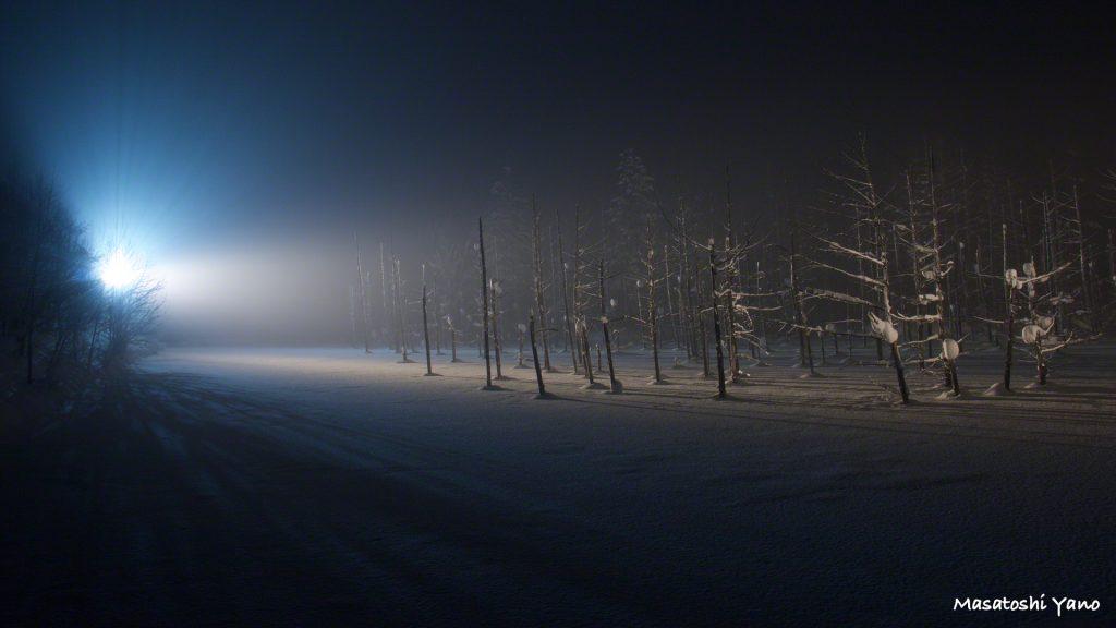 【期日間近】青い池ライトアップ撮りおさめ