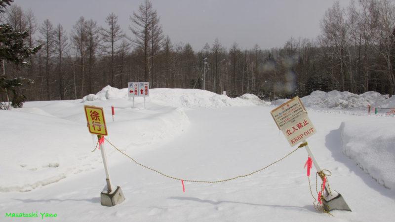 美瑛町の青い池立ち入り禁止