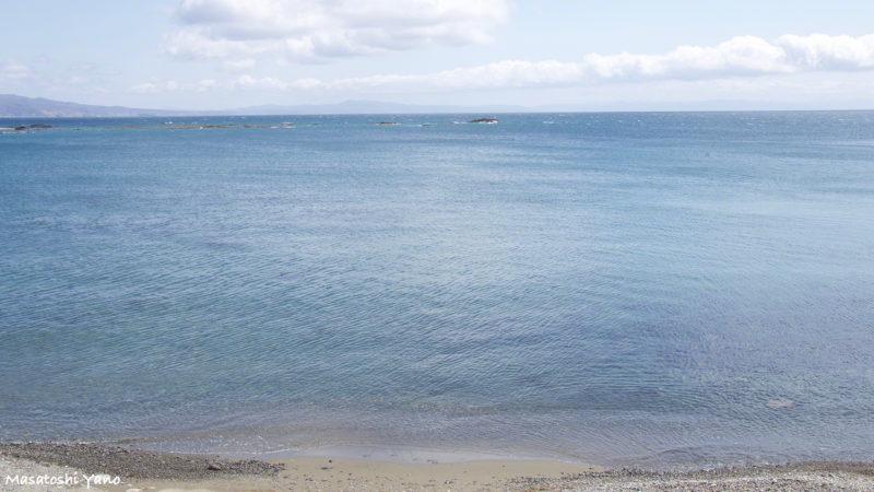 国道229号から見える海の風景