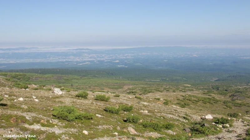 十勝岳望岳台から見る美瑛の町並み