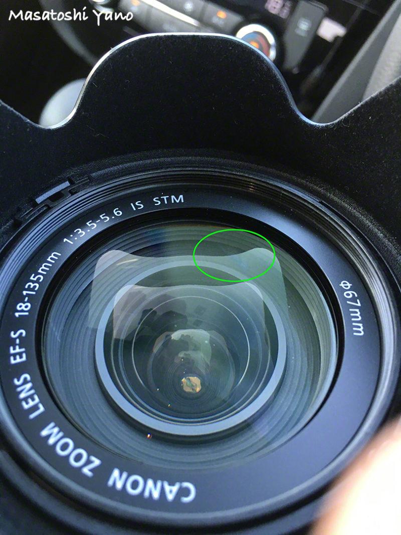 汚れたカメラのレンズ