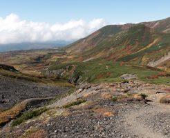 旭岳周遊コース山道