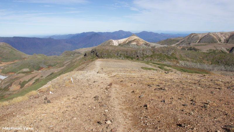 北海岳〜石室までの山道