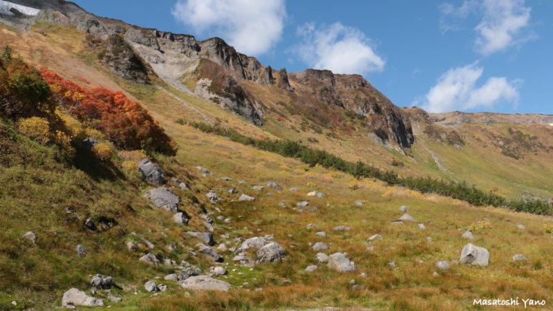 高原沼コースの断崖絶壁