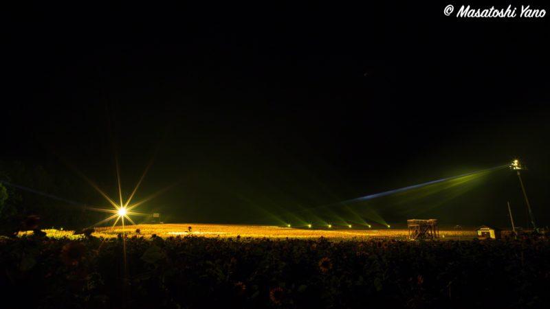 北竜町の花火大会スタンバイ