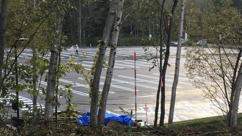 青い池の新しい駐車場