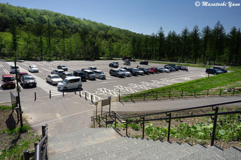 新しい青い池の駐車場
