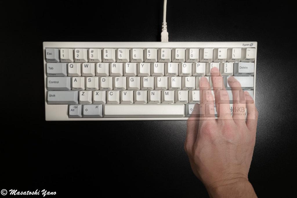 HHKBの矢印キーの手の位置
